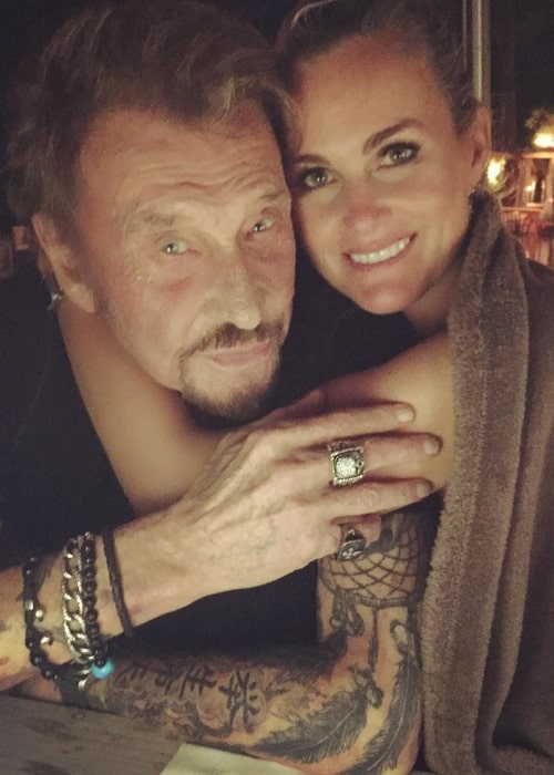 Laeticia Hallyday and her beau Johnny Hallyday as seen in a picture that was taken in the past (1)