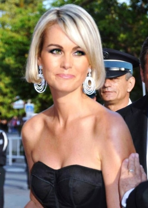 Laeticia Hallyday as seen in a picture that was taken at the Cannes film festival in 2009