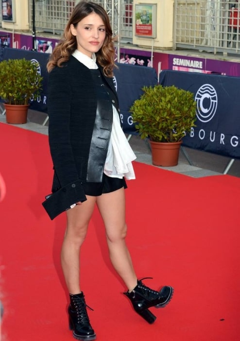 Lola Bessis at Cabourg Film Festival in 2018