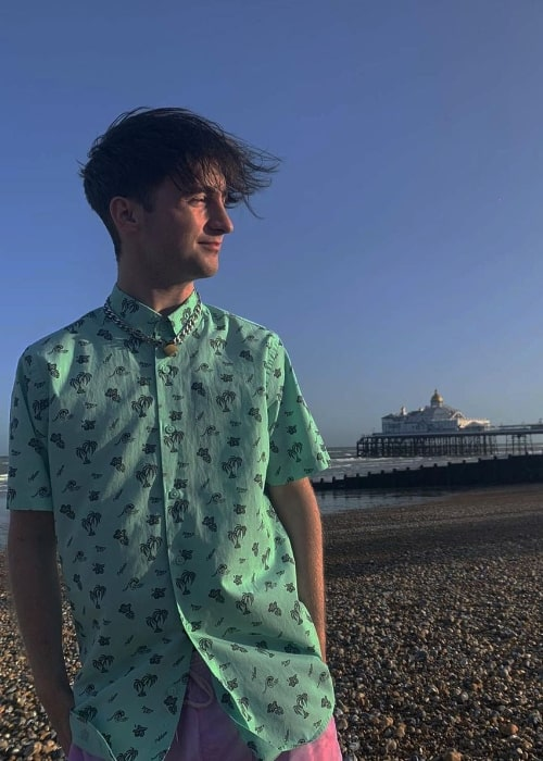Luvbenji posing for the camera in Eastbourne, East Sussex in England in September 2020