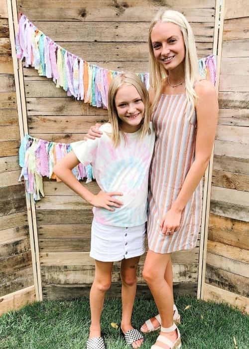 Lyla Grace as seen in a picture that was taken with her older sister Jaidyn Lynzee in July 2020