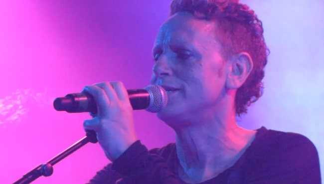 Martin Gore performing with Depeche Mode live at Troubadour in April 2013