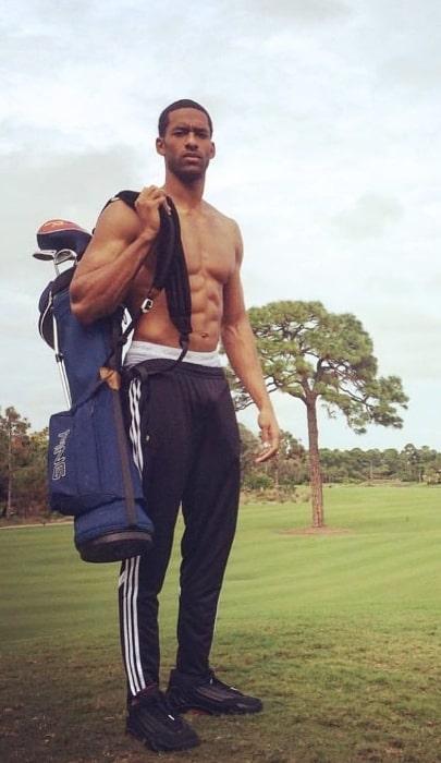 Matt James as seen shirtless in an Instagram post in Jupiter, Florida in May 2019