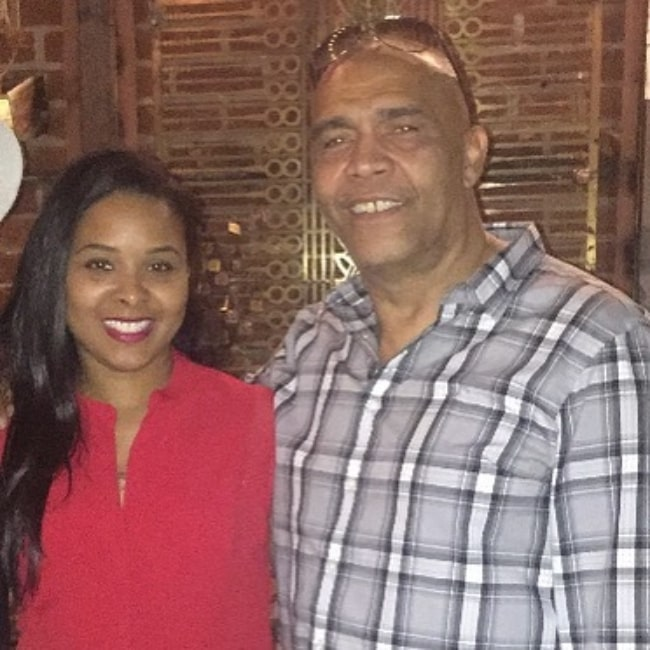 Mechelle McCain smiling in a picture alongside her father