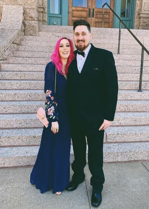 MeganPlays as seen in a picture that was taken in Fort Worth, Texas with her beau AviatorGaming in February 2020