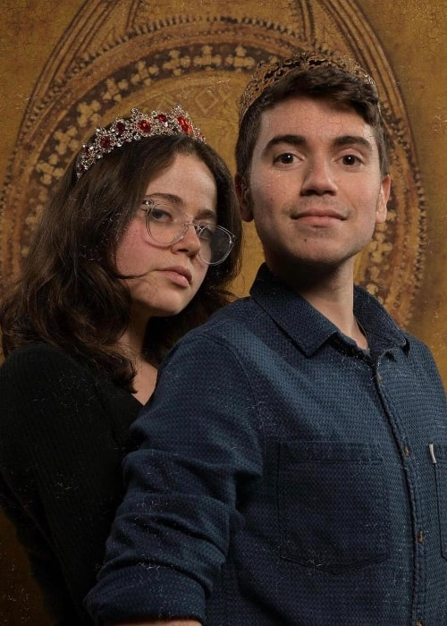 Noah Galvin as seen while smiling in a picture alongside Molly Gordon in January 2020