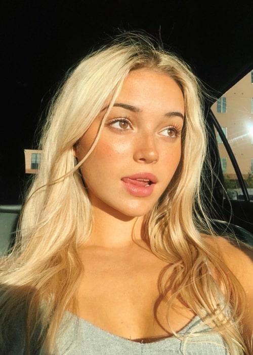 Olivia Dunne as seen in a selfie that was taken in July 2020