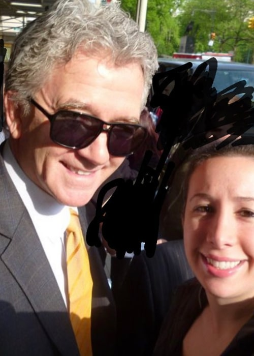 Patrick Duffy posing for a selfie with a fan in October 2020