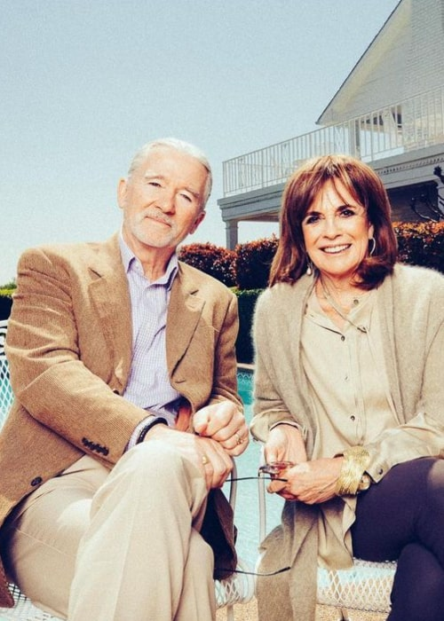 Patrick Duffy with actress Linda Gray, as seen in September 2020