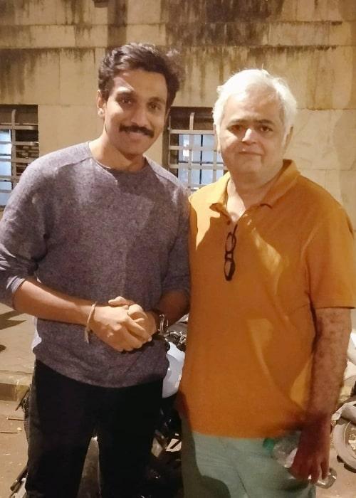 Pratik Gandhi (Left) as seen while posing for a picture alongside Hansal Mehta in March 2020