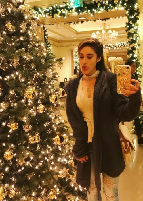 Q'orianka Kilcher in December 2017 beginning to celebrate Christmas