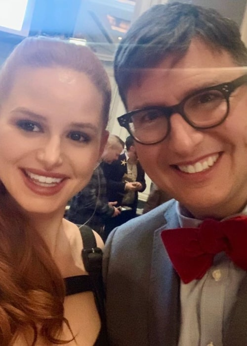 Roberto Aguirre-Sacasa with actress Madelaine Petsch, as seen in October 2019