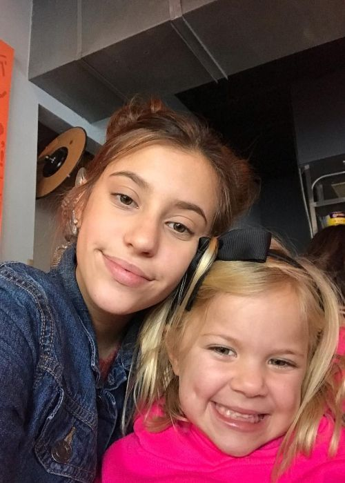 Rory Vlach as seen in a selfie that was taken with her sister Jayla Vlach in November 2018