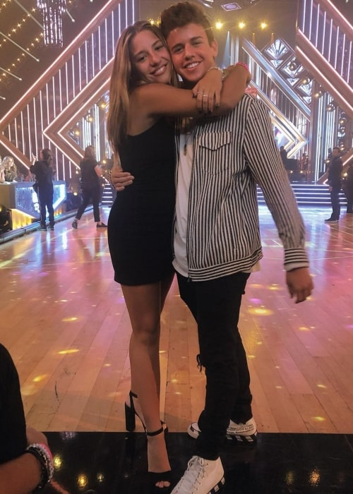 Sage Rosen as seen in a picture that was taken with dancer, singer, model, and actress Mackenzie Ziegler on the set of Dancing with the Stars at CBS studios in October 2019