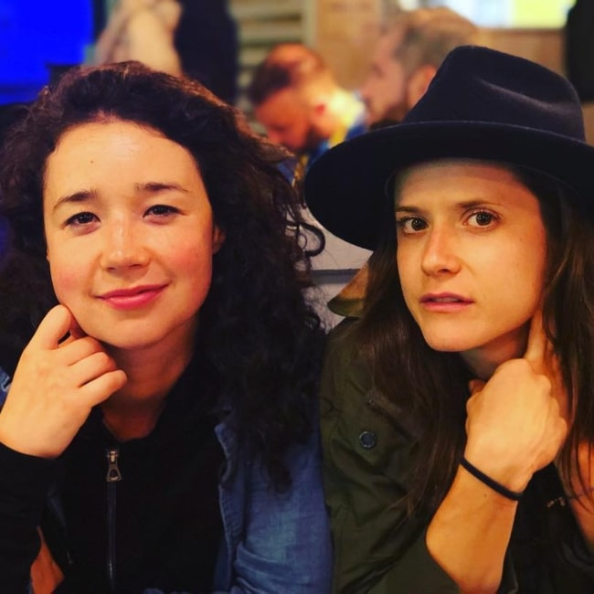 Sarah Steele as seen in a picture with Kate Hopkins in September 2018