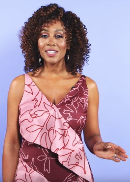 Simone Missick as seen during an interview in 2018