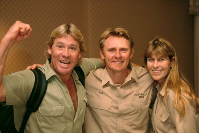 Steve Irwin as seen with Wes Mannion and Terri Irwin