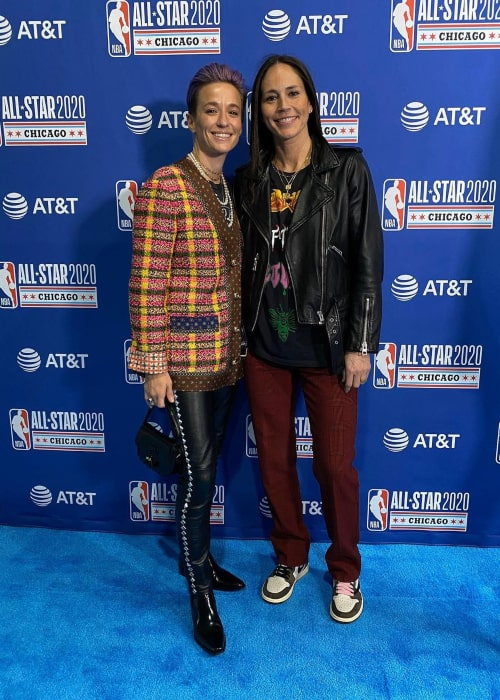 Sue Bird and Megan Rapinoe, as seen in February 2020