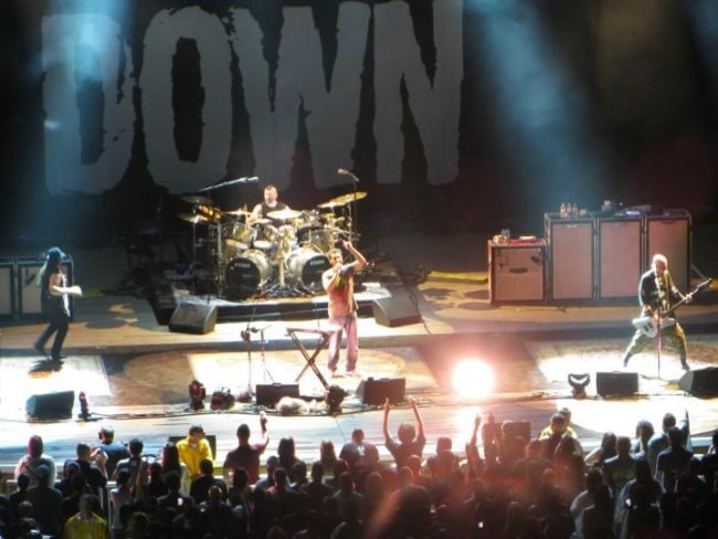System of a Down as seen while playing at the Nikon at Jones Beach Theater in Wantagh, New York in August 2012