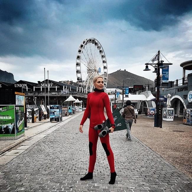Tanya van Graan as seen at V&A Waterfront in November 2017