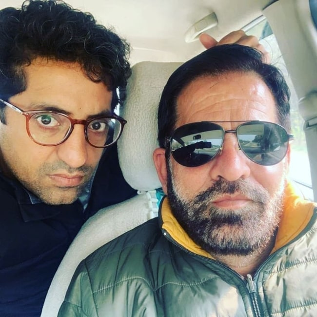 Vikram Kochhar as seen in a selfie with his father that was taken in Mumbai, Maharashtra in July 2020