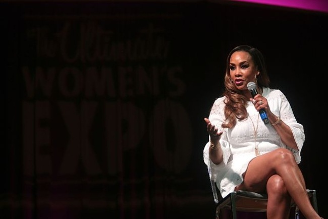 Vivica as seen speaking at the Arizona Ultimate Women's Expo in 2017