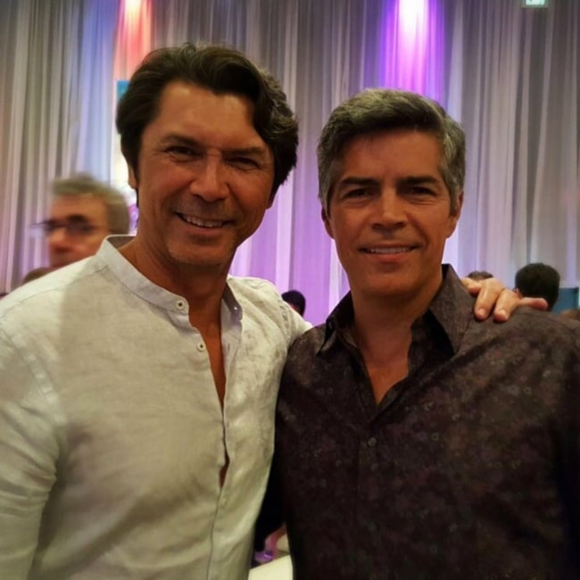 Actor Lou Diamond and Esai Morales as seen in a picture that was taken in August 2016