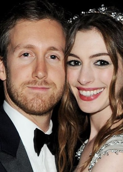 Adam Shulman with his wife in the past