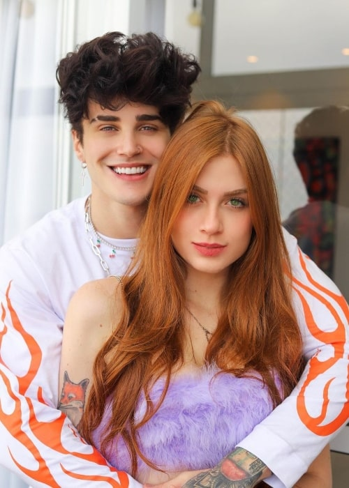 Alex Mapeli as seen in a picture that was taken with his beau TikTok star Flávia Charallo in São Paulo, Brazil in December 2020