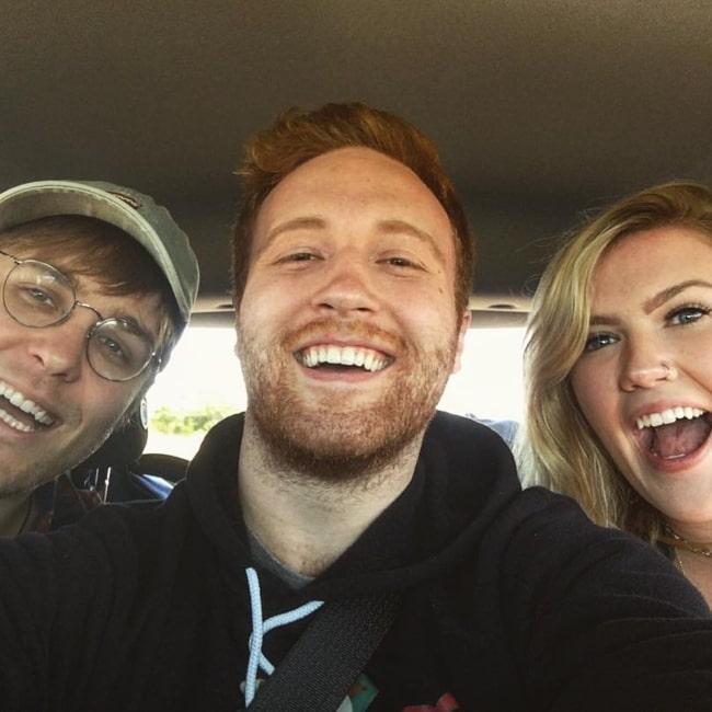 Andrew Siwicki as seen in a selfie that was taken with Morgan Adams and Garrett Watts in April 2018