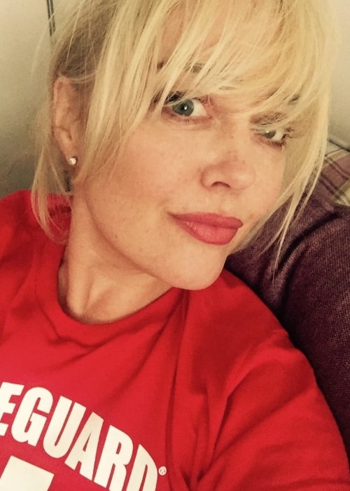 Angeline Ball as seen while taking a selfie showing her bangs in August 2020