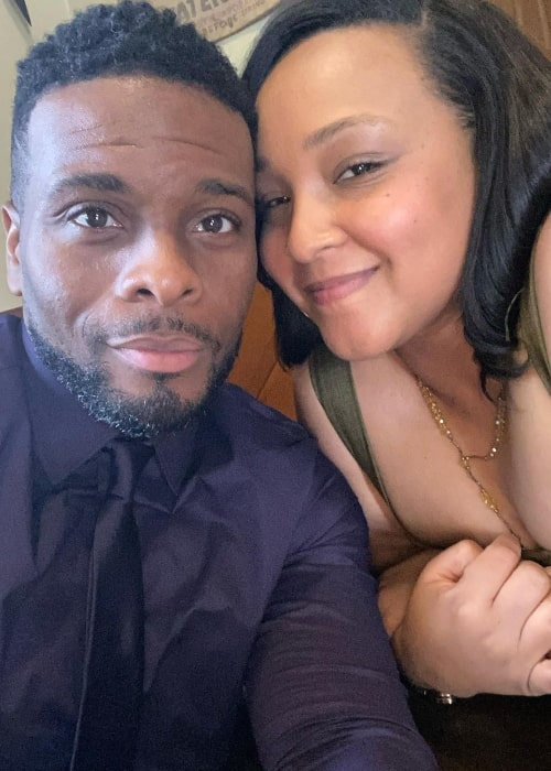Asia Lee as seen in a selfie that was taken in with her beau Kel Mitchell in August 2020