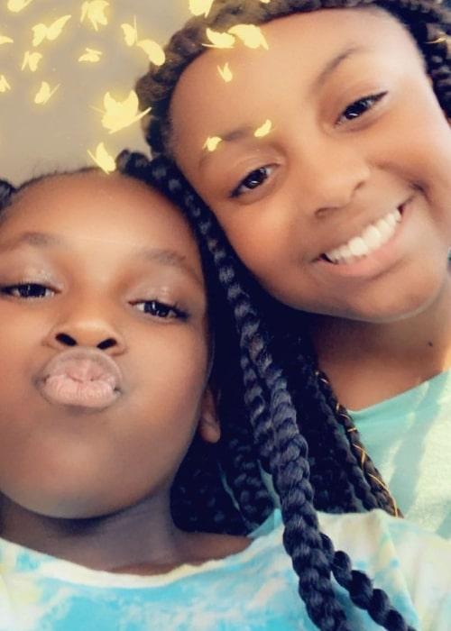 Bad Kid Kam as seen in a selfie that was taken with sister Badkidmirah in June 2019