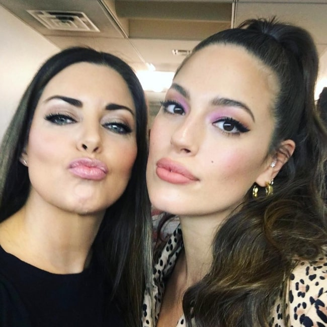 Bobbie Thomas (Left) as seen while pouting for a selfie alongside Ashley Graham in New York City, New York