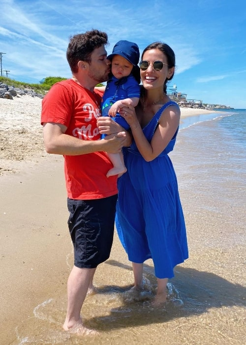 Breanne Racano pictured while enjoying her time with her family at the beach in Montauk, New York in June 2020