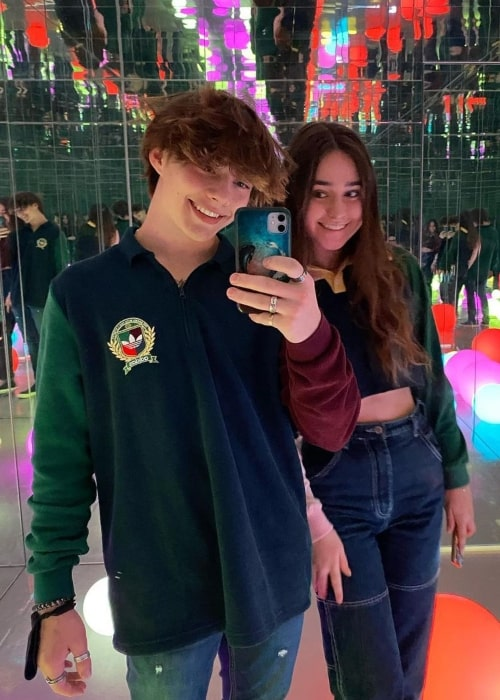 Bryce McKenzie as seen in a picture that was taken with social media star Ashley Wicka at the Denver Selfie Museum in December 2020