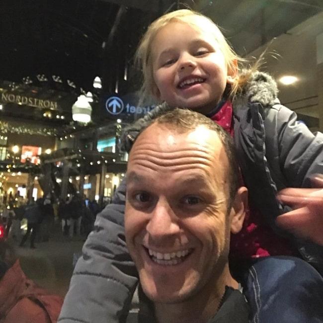 Cory LeRoy as seen in a selfie with his daughter Perri LeRoy in December 2017