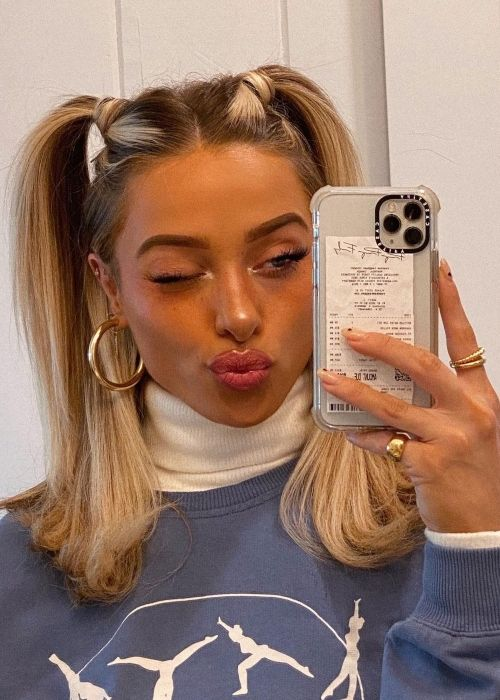 Delaney Childs as seen in a selfie that was taken in December 2020