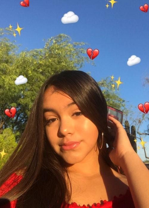 Delayza Naylea as seen in a selfie that was taken in June 2018