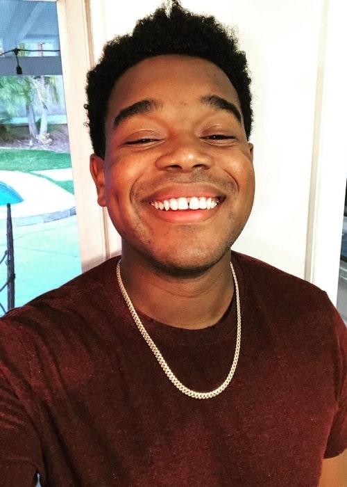 Dexter Darden smiling for a selfie in October 2020