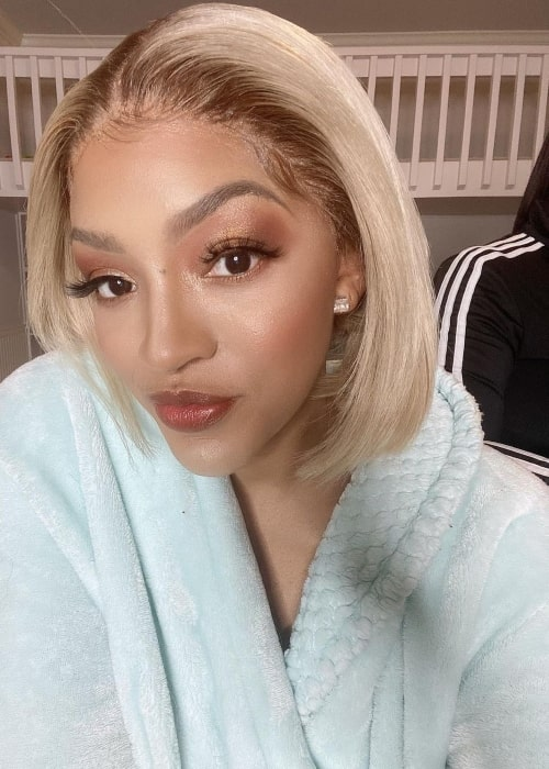 Drew Sidora in November 2020 getting glammed up and hoping for the result to be good