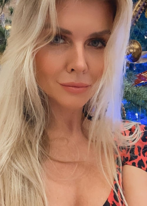 Elena Samodanova as seen in a closeup selfie that was taken in December 2020