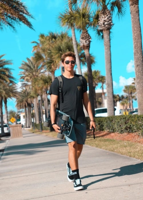 Elijah Gomez as seen in a picture that was taken at Jacksonville Beach in January 2020