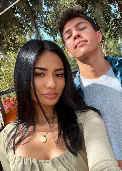 Elijah Gomez as seen in a selfie that was taken with his girlfriend Kayla Kosuga in October 2020