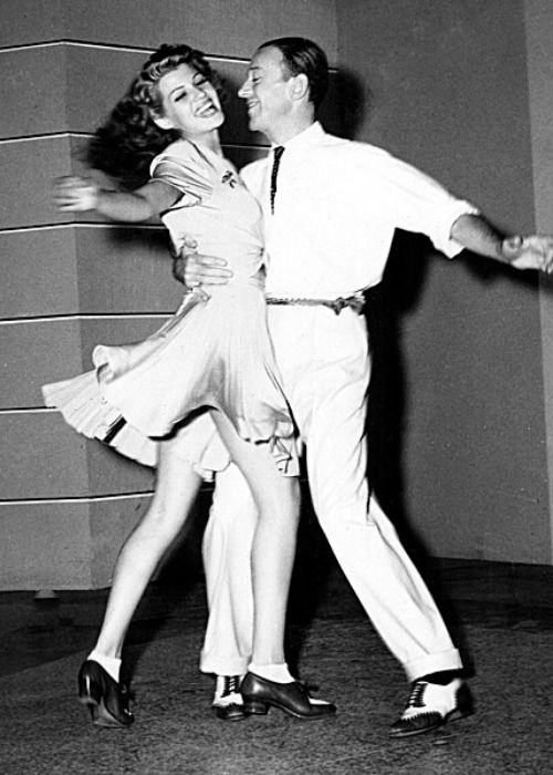 Fred Astaire and Rita Hayworth as seen dancing in the 1942 film You Were Never Lovelier