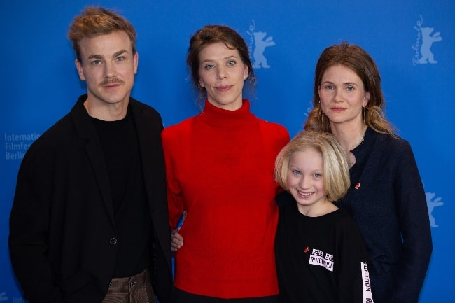 From Left to Right - Albrecht Schuch, Nora Fingscheidt, Helena Zengel, and Lisa Hagmeister at the Berlinale 2019