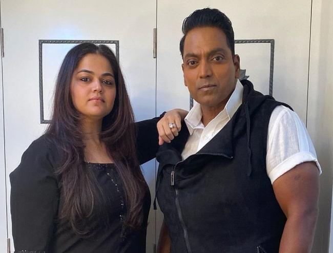 Ganesh Acharya and wife Vidhi Acharya as seen in an Instagram post in December 2020