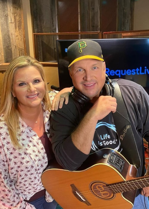 Garth Brooks and Trisha Yearwood, as seen in July 2020