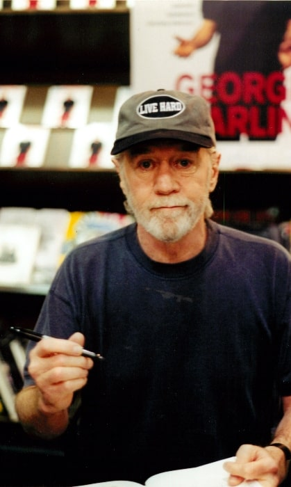 George Carlin as seen at a book signing for Brain Droppings in New York City at Barnes and Noble in February 2011