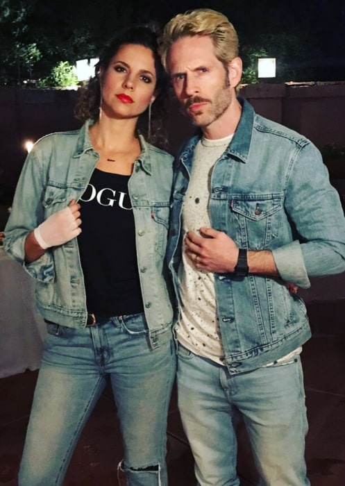 Glenn Howerton having a sweet time with his wife in December 2019